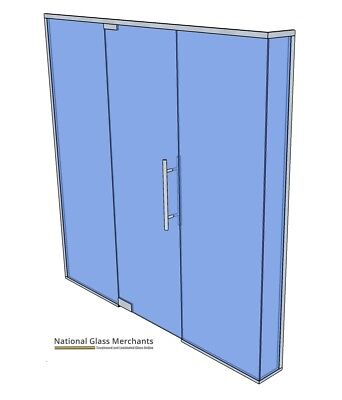 GLASS PARTITION- 2720-2755 Wide X275-300 Deep- EVERYTHING INCLUDED- CHEAP- TRADE