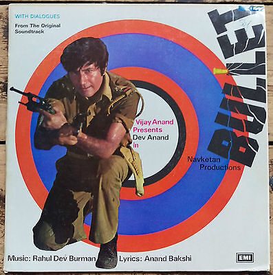 Bollywood LP Bullet R.D.Burman Gatefold ECLP 5493 very clean copy