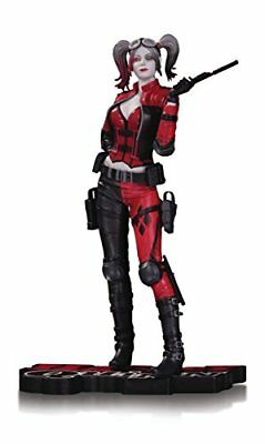 DC Collectibles Harley Quinn Injustice 2 Statue, Black/White/Red