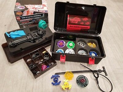 Beyblade 4D spin top with Launcher Grip spare parts and box carry set