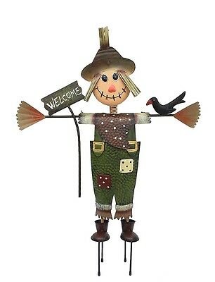 Scarecrow (83cm's Tall) - Metal Garden Decor Ornament Sculpture - BNWT