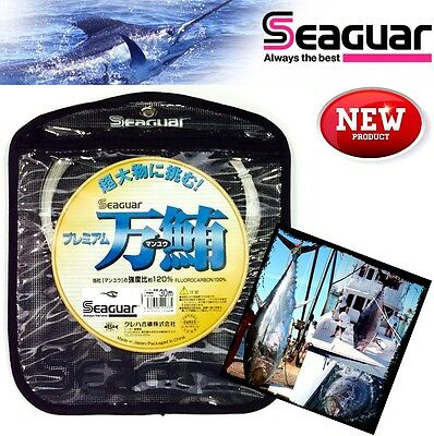 Seaguar 100% Fluorocarbon Offshore Fishing Leader Premium Manyu