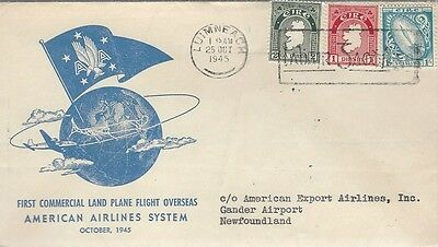 1945 American Export Airlines System - Ireland to Gander,NFLD FFC