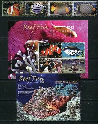 Papua Neuguinea 2012 Fische Fishes Poissons Pesci 1757-64 Block 148 MNH