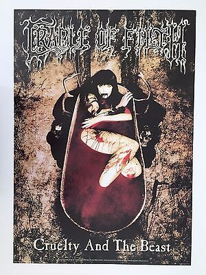 Cradle Of Filth,cruelty And The Beast, Rare Authentic 1998 Poster