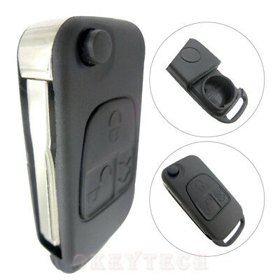 Flip Folding car Shell Remote Key Fob Case 3 Button For Mercedes Benz ML C CL S