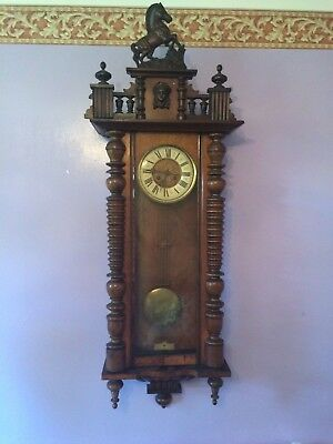 LARGE VIENNA WALL CLOCK, Late 1800's - early 1900's