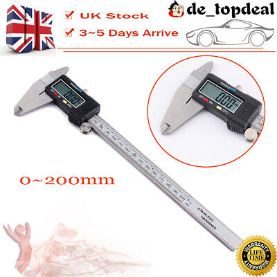 "LCD 8"" 200mm Digital Vernier Caliper Micrometer Gauge Accurate Measurement Tool"