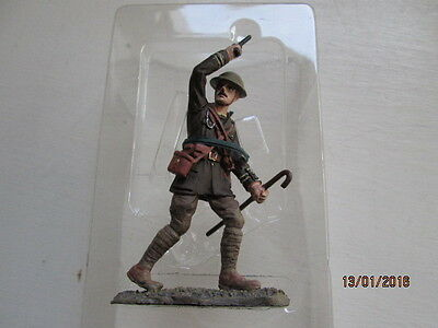 54 mm SCALE PAINTED LEAD BRITISH CAPTAIN LANCASHIRE FUSILLERS - 1916 SOLDIER MIB