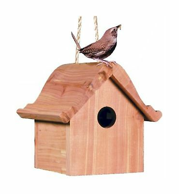 Perky-Pet 50301 Wren Home Cedar Birdhouse New