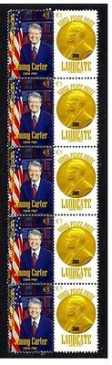 Jimmy Carter Nobel Peace Prize Strip Of 10 Stamps 5