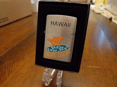 Hawaii Hang Loose Surf Board Zippo Lighter Mint In Box 2008