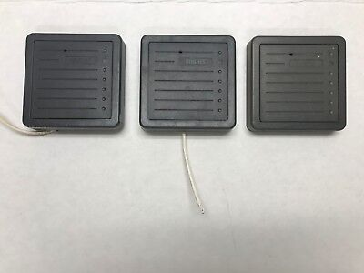 Lot of 3 - HID (Hughes) PROXPRO WALL SWITCH READER 5355AGN00 Proximity Grey USED