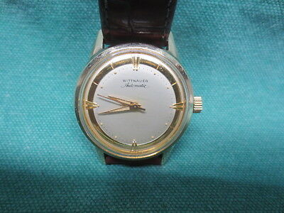 Running vtg 1958 Wittnauer Automatic Men's Wrist Watch-Ford P+S Sales Award