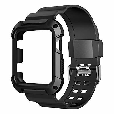 Apple Watch Case with Strap Bands 42mm Series 1 Series 2 Sport Edition Black