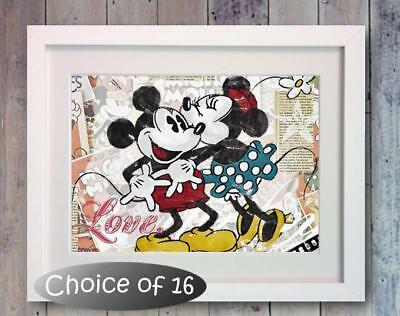Disney Mickey Mouse Retro Poster Picture Print Photo Wall Art Decor Gift Bedroom