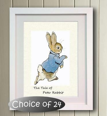 Beatrix Potter Peter Rabbit Poster Picture Print Photo wall Decor gift Character