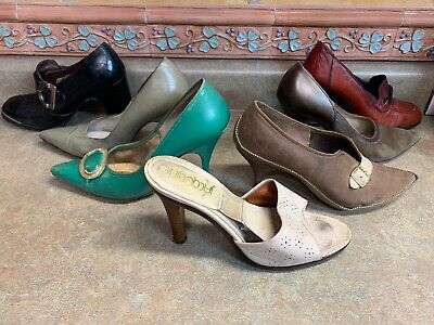 Vintage Womens Dress Shoes Size 6 Lot Of 8 Pair