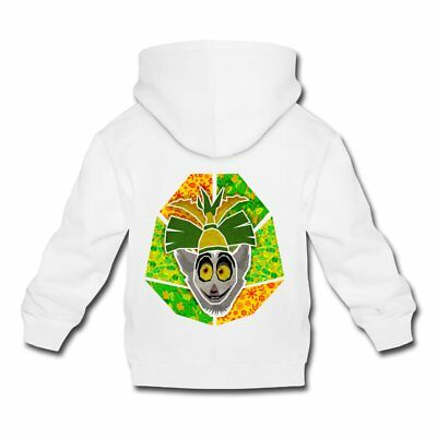 DreamWorks King Julien Portrait Kinder Premium Hoodie von Spreadshirt®