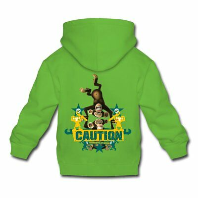 DreamWorks Madagascar Affen Caution Kinder Premium Hoodie von Spreadshirt®
