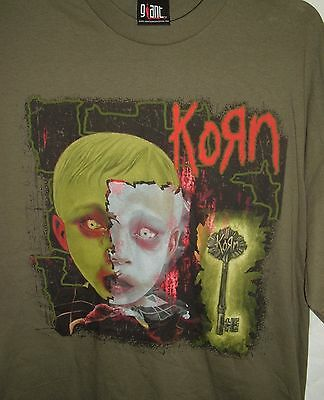 KORN 2006 tour XL concert T-SHIRT Olive Green Two sided