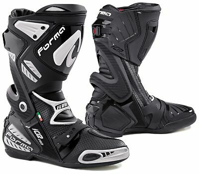 NEW Forma ICE PRO Flow Black Boot from Moto Heaven
