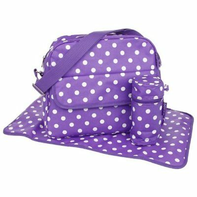 le dotty changing bag with changing bag oilcloth