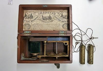 Rare Antique Magneto Improved Electric Shock Machine For Nervous Diseases