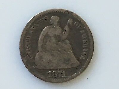 1871 United States Seated Liberty Half Dime