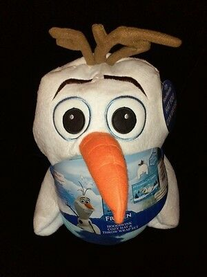 Disney's Frozen Hoodiwink Olaf Throw Wrap Set With Detachable Hat New With Tags