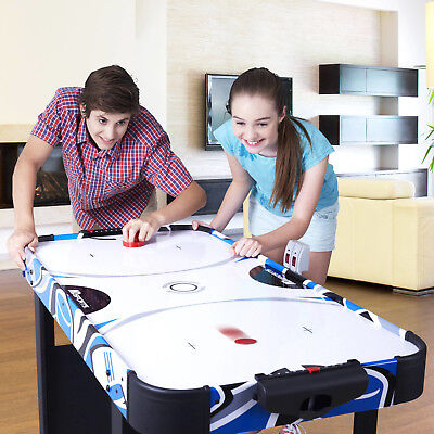 """Air Hockey Table Sport Electronic Scoring For Kids Game Room Powered Indoor 48"""""""