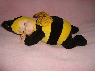 "Anne Geddes Bumble Bee Blue Eyes Plush & Beans 8"" Long"