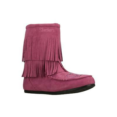 New Girls Youth Skechers Dancing Doll Boot Style 87892L Hot Pink 122D tr