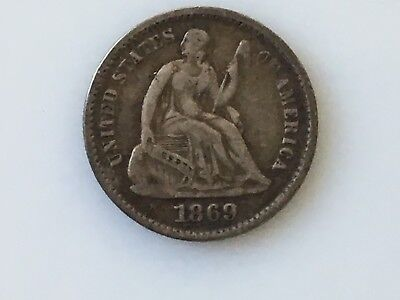 1869 United States Seated Liberty Half Dime