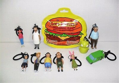 Bob's Burgers Collector Clips Complete Set Of (10) Loose