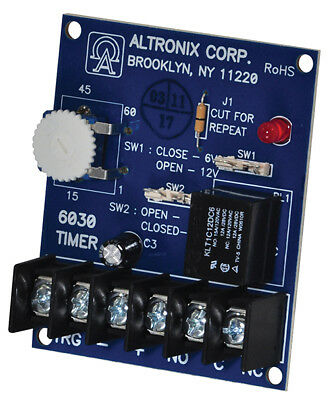 Altronix 6030 Multi-Purpose, 6/12VDC  Board Timer-Bell Cut Off, Timer