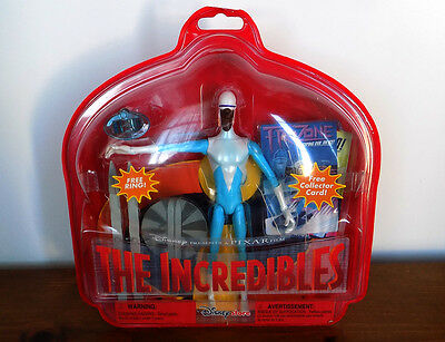 Disney The Incredibles FROZONE Action Figure Toy ~ RARE! Iceboard and Skis NEW!