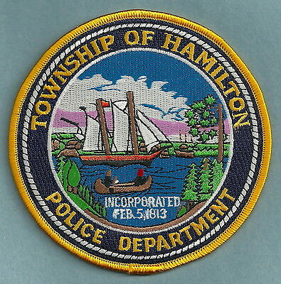 Hamilton Township New Jersey Police Patch