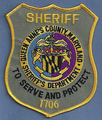 Queen Anne's County Sheriff Maryland Police Patch