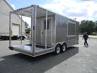 NEW  8.5' X 20' Enclosed Concession Stand Food Vending BBQ Porch Trailer *NEW*