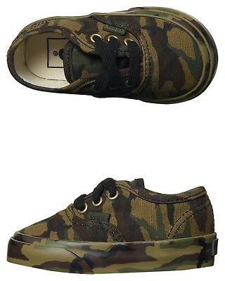Vans Authentic Classic Green Black Camo Toddler Infant Canvas Shoes All Sizes