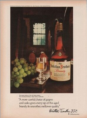 1970 Christian Brothers Aging Celler Napa Valley CA Wine Brother Timothy Ad