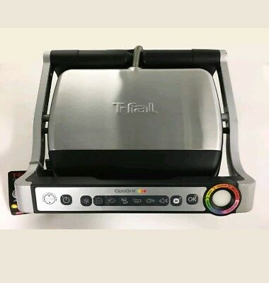 T-fal GC702 OptiGrill Stainless Steel Indoor Electric Grill w/ Removable Plates