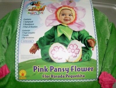Halloween PINK PANSY FLOWER Costume - Infant 12-18 months - Noah's Ark Coll  New