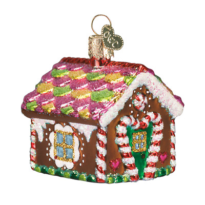 """""""Gingerbread House"""" (20013) Old World Christmas Glass Ornament w/ OWC Box"""