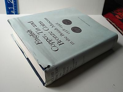 ENGLISH COPPER TIN AND BRONZE COINS BRITISH MUSEUM 1558-1958 Reference HC BOOK .