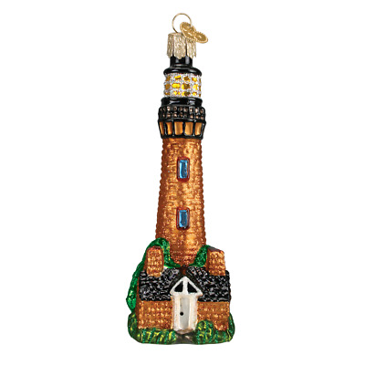 """""""Currituck Lighthouse"""" (20051) Old World Christmas Glass Ornament w/OWC Box"""