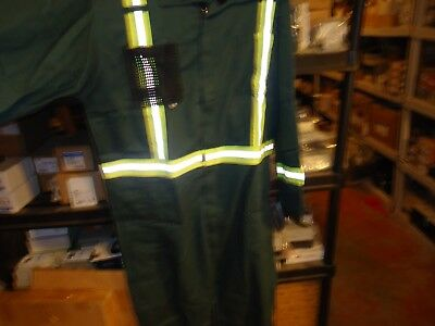 Hammill, Hi-Vis Coveralls Flame Resistant Green Level 2 Safty 8.7 Cal Size: 54T