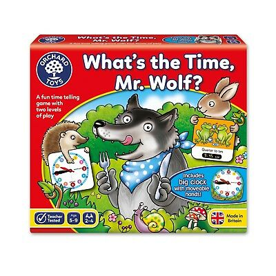 Orchard Toys Whats the Time Mr Wolf Educational And Fun Family Game 5 years +
