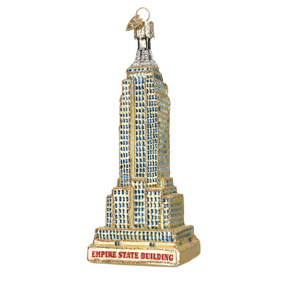"""""""Empire State Building"""" (20059) Old World Christmas Glass Ornament w/ OWC Box"""